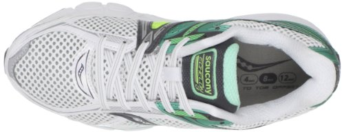 Saucony Womens ProGrid Echelon 3 Running Shoe White/Green/Citron