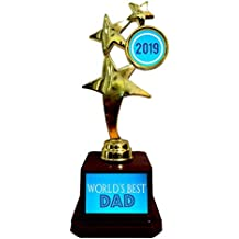 YaYa cafe Worlds Best Dad Star Trophy 2018 Golden Star Award for Father