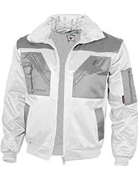 Qualitex Piloten-Jacke 4 in 1 - Kragenfutter und Ärmel abtrennbar - weiß/grau - Größe: M