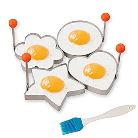 GuestWay Stainless Steel 304 Fried Egg Mold Pancake Ring Kitchen