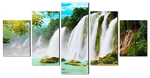 Obella NEUF Top des Impressions sur toile 5pièces issu de la gamme Nature Paysage Cascade arbres issu de la gamme moderne contemporain Posters: peintures à l