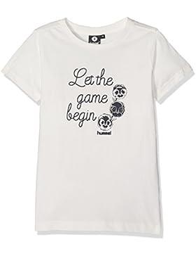 Hummel niña Sugi Short Sleeve Tee–Camiseta, niña, SUGI Short Sleeve TEE, Snow White, 140