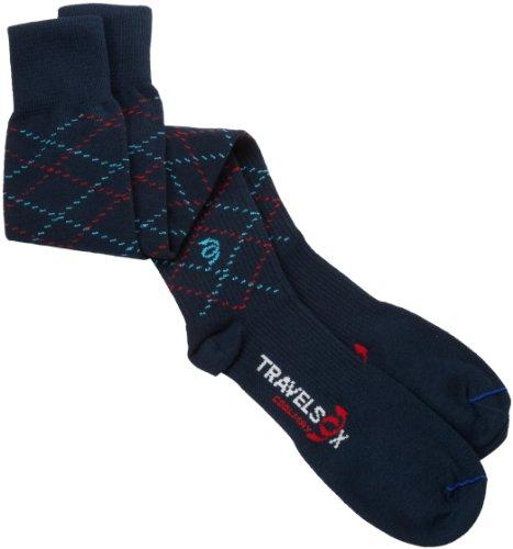 Vitalsox Travelsox Support OTC Compression Recovery Travel Socks TS5000 Navy Medium