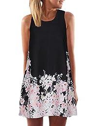 VEMOW Frauen Damen Sommer ärmellose Blume Gedruckt Tank Top Casual Schulter  T-Shirt Tops Blusen… f59c141d8c