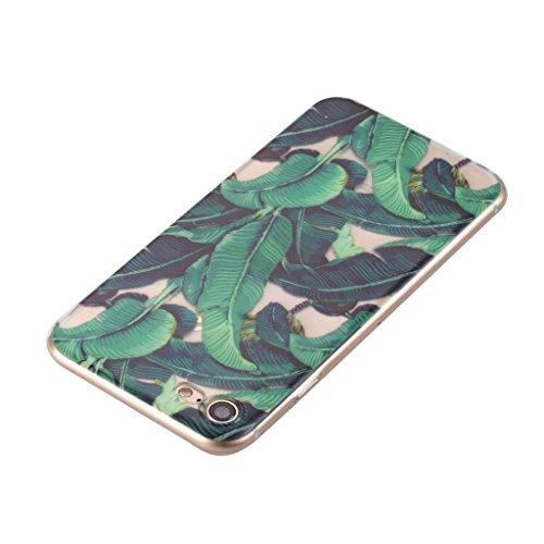 """Hülle für Apple iPhone 7 , IJIA Transparent Gänseblümchen TPU Weich Handyhülle Silikon Stoßkasten Cover Schutzhülle Handytasche Schale Case Tasche für Apple iPhone 7 (4.7"""") HX107"""