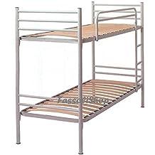 litera metlica blanca cm x total xx con escalera para acceso a la cama