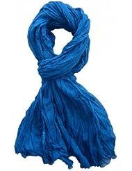 *** PROMOTION *** Chèche Foulard Écharpe - Bleu - 100% coton