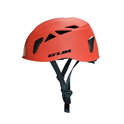 zyy Helm, Outdoor Fast Drop Erweitern Cavern Rescue Klettern Sicherheit Hat Rock Climbing Equipment Helm Durchschnittliche Code (Farbe : Rot) (Rock Helm Klettern)