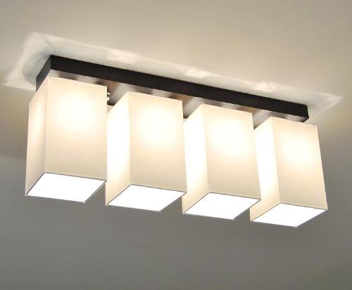Designer Decken Leuchte Lampe Retro Deckenleuchte Hotel Büro E27 Power LED Bern 4 (Holzfarbe- Wenge)