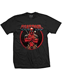 Official T Shirt Marvel Comic DEADPOOL ~ Crossed Arms M