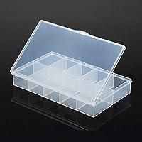 F Fityle Caja de almacenamiento plástica impermeable del almacenamiento de la caja del dispositivo con 1 ranura 10 desprendible