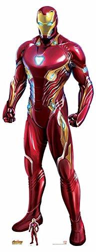 n SC1145Offizielles Marvel Charakter aus Karton, Lebensgröße Ironman (Avengers: Infinity Krieg) Nano-Anzug, Mehrfarbig, 192cm hoch 74cm breit ()