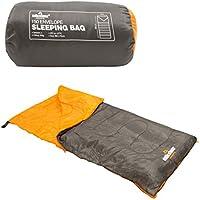 Milestone - Sacco a pelo da campeggio con borsa, colore nero