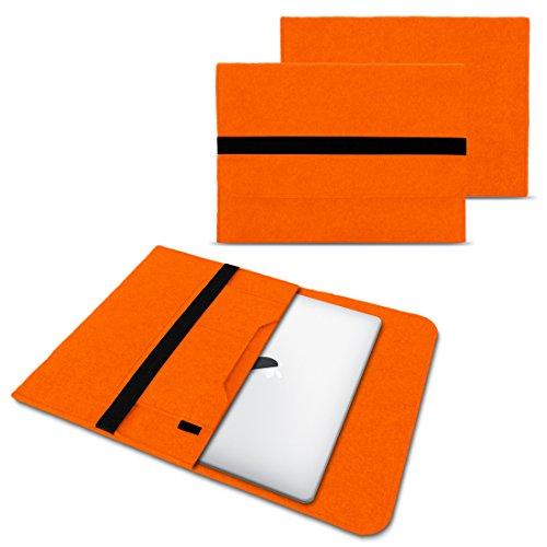 NAUC Laptop Tasche Sleeve Hülle Schutztasche Filz Cover für Tablets und Notebooks Farbauswahl kompatibel mit Samsung Apple ASUS Medion Lenovo, Farben:Orange, Größe:12.5-13.3 Zoll
