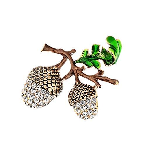 Epig Damen Exquisite Brosche, 3D Hohl Kiefer Kegel Diamant Strass Mode Brosche Schmuck für Frauen Geschenk (Kegel ärmel)