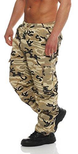 Pantaloni Termici Maschile Cargohose Mimetico Pantaloni funzionali Pantaloni da snowboard Trekking Montagne Escursionismo Pantaloni con Imbottitura interna Esterni 4958 - beige, M(50)