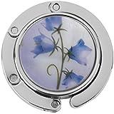 Tfxwerws Mode Sac pliable Sac à main Table Crochet de suspension support Fleur bleue