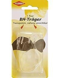 Kleiber - Tirantes de sujetador invisibles, ajustables, de PVC, transparentes