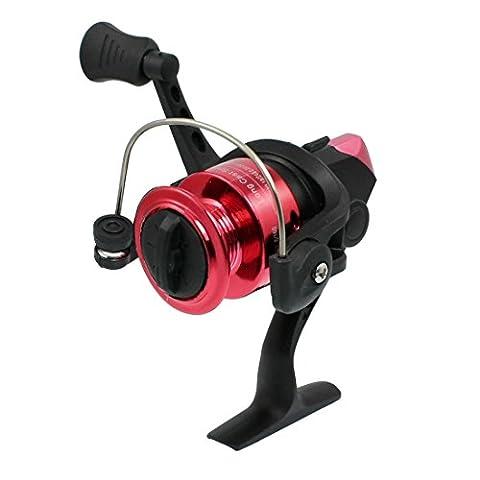 Red Black Gear Ratio 5.2:1 1-Ball Bearing Fishing Spinning Reel