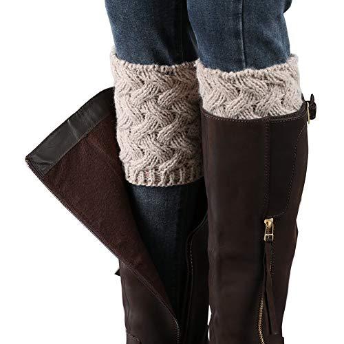 Vellette Bein Stulpen Damen | warme Beinstulpen Strick-Stulpe Beinwarmer Stulpen Legwarmer Grobstrickstulpen Damen Madchen 1 Paar (Bein-stulpen)