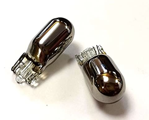 XtremeAuto® 12V Light Bulbs 25MM - 501 Sidelight Bulb Chrome / Silver / Orange / Amber x 2 Pack