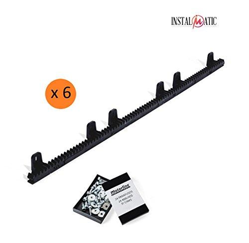 Pack-6-metros-cremallera-nylon-estandar-para-motor-corredera-compatible-con-cualquier-motor-del-mercado-alta-calidad-interior-en-acero-reforzado
