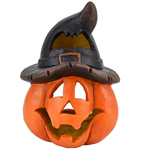 (Dadeldo Living & Lifestyle Kürbis Deko Objekt Herbst Halloween Clayfibre 41x24x21cm Orange Grusel)