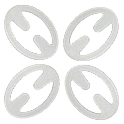 4 Stück Magic BH Clips - Push Up - Anti Rutsch - Erhältlich in 4 Farben ode als Farbmix - Mit diesen Clips können Sie Ihre BH Träger verstecken. (Transparent)
