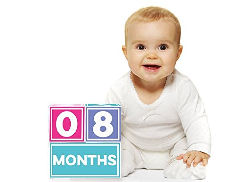 Sticky Bellies Brag Blocks - Baby Altersblöcke - Neutral - Mädchen - Jungs - 3 Styles verfügbar (Mädchen) von Sticky Bellies (Baby-foto-blöcke)