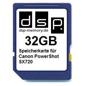 Preisvergleich Produktbild DSP Memory Z-4051557436770 32GB Speicherkarte für Canon PowerShot SX720