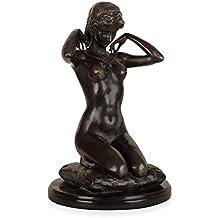 World Art TW60442 Scultura in Bronzo Nudo Con Collana, Bronzo, 36x25x25 Cm