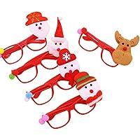 STOBOK 10pcs Gafas de Fiesta de Navidad con Santa Muñeco de Nieve Reno Muñeca Gafas Divertidas Gafas de Sol para niños Fiesta de Navidad de Navidad para Adultos Apoyos de Fotos (Estilos aleatorios)