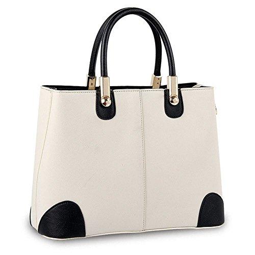 Koson-Man-Borsa Vintage da donna, borsetta per impugnatura, bianco (Bianco) - KMUKHB354