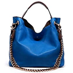 2Chique Boutique Womens 2-in-1 Blue Shoulder Bag