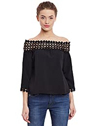 Miss Chase Womens Black Off Shoulder Top