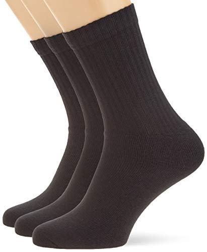 s.Oliver Unisex - Erwachsene Socke 3 er Pack, S30001, Gr. 43-46, Schwarz (05 black)