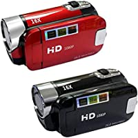 Full HD 1080P Video Camera Professional Digital Camcorder 2.7 Inches 16MP High Definition ABS FHD DV Cameras 270 Degree…