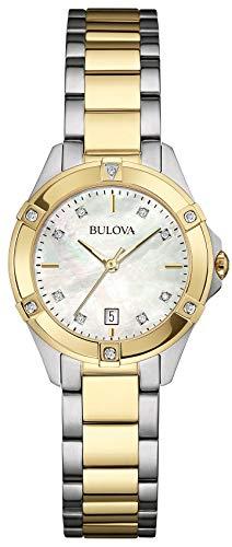 7 - Damen Designer-Armbanduhr - Edelstahl - modischer Stil - Goldfarben ()