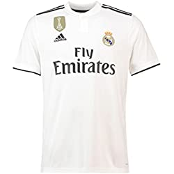 adidas 18/19 Real Madrid Home with Lfp Badge Camiseta, Hombre, (blabas/Negro), 2XL