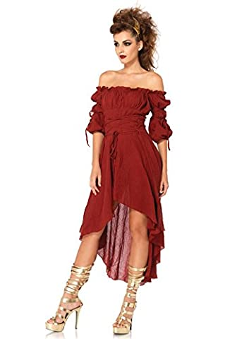 Pirate Wench Costume Amazon - Leg Avenue Déguisement Robe Paysanne Bordeaux Taille