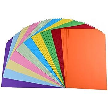 10 Verschiedene Pastell Farben ewtshop/® Foto-Karton in tollen Pastellt/önen 50 Blatt Bastelpapier