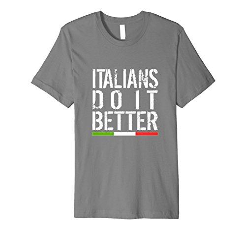Italienisches Pride T-Shirt Italien Tee italian-s Do it better Flagge