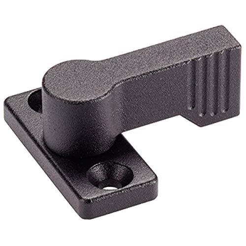 Halder 24101.0202cerrojo giratorio, Negro, D1= 17mm