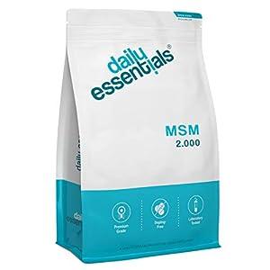 MSM – Methylsulfonylmethan – 500 Tabletten á 2000mg Tagesportion – 99,9% Reinheit – Laborgeprüft, ohne Magnesiumstearat, hochdosiert, vegan und hergestellt in Deutschland