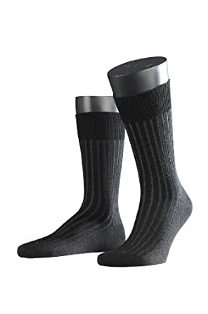 FALKE Herren Socken 14587 Wool Shadow Business SO, Gr. 41/ 42 Schwarz (black grey 3000)
