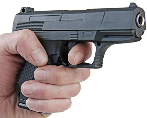 Nerd Clear Metall Pistole Polizei 1 zu 1 Nachbau für Film und Karneval G19-12249
