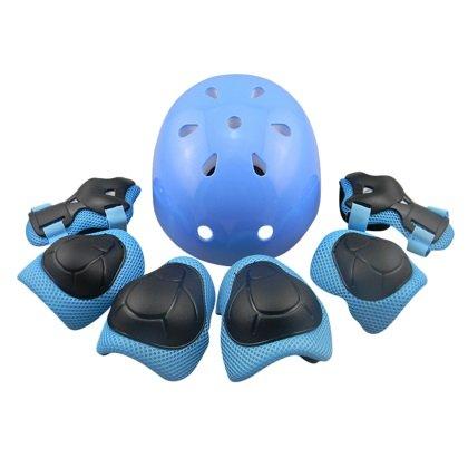 Tourwin Kinder Schutzausrüstung für Eislaufen Fahrrad Helm Handgelenkschützer Knieschoner Ellbogenschützer Schutzset