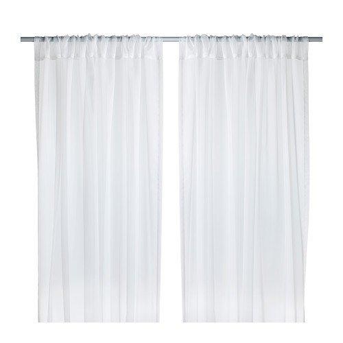 IKEA TERESIA -Gardinen 1 Paar weiß - 145x300 cm