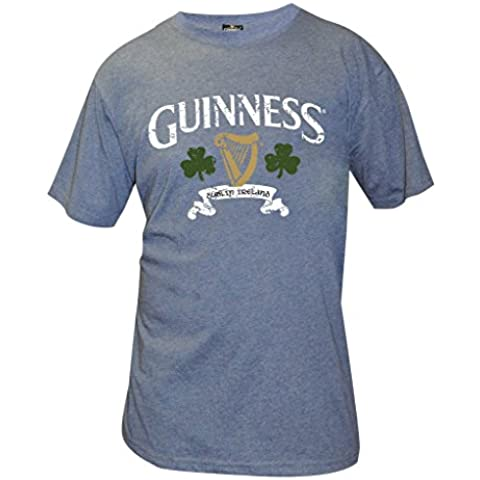 Guinness Logo Distressed Navy T-Shirt Marino Large