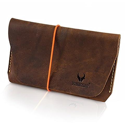 Premium Reisepasshülle - Vintage-Echt-Leder - für 1 oder 2 Pässe